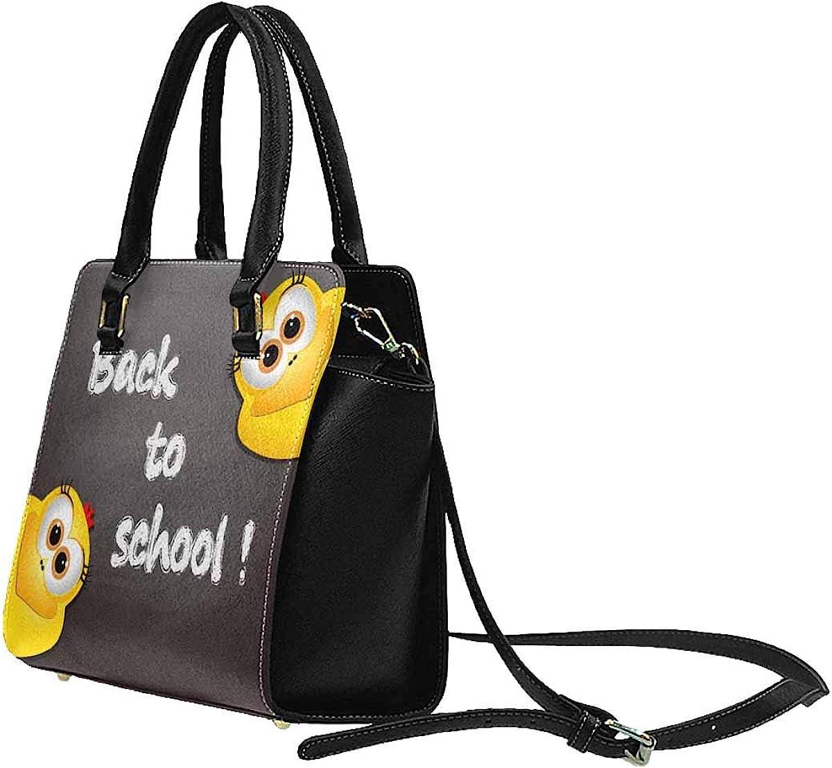 INTERESTPRINT Funny Chickens Bags Top Handle Handbags Tote Bag