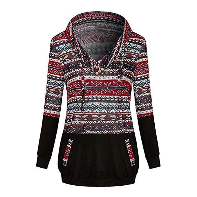 KUDICO Damen WeihnachtsHoodie Sweatshirt V Ausschnitt