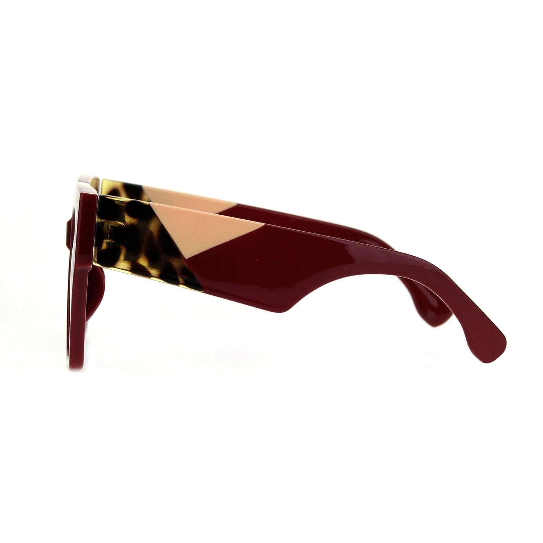Womens Thick Horn Rim Plastic Retro Fashion Sunglasses
