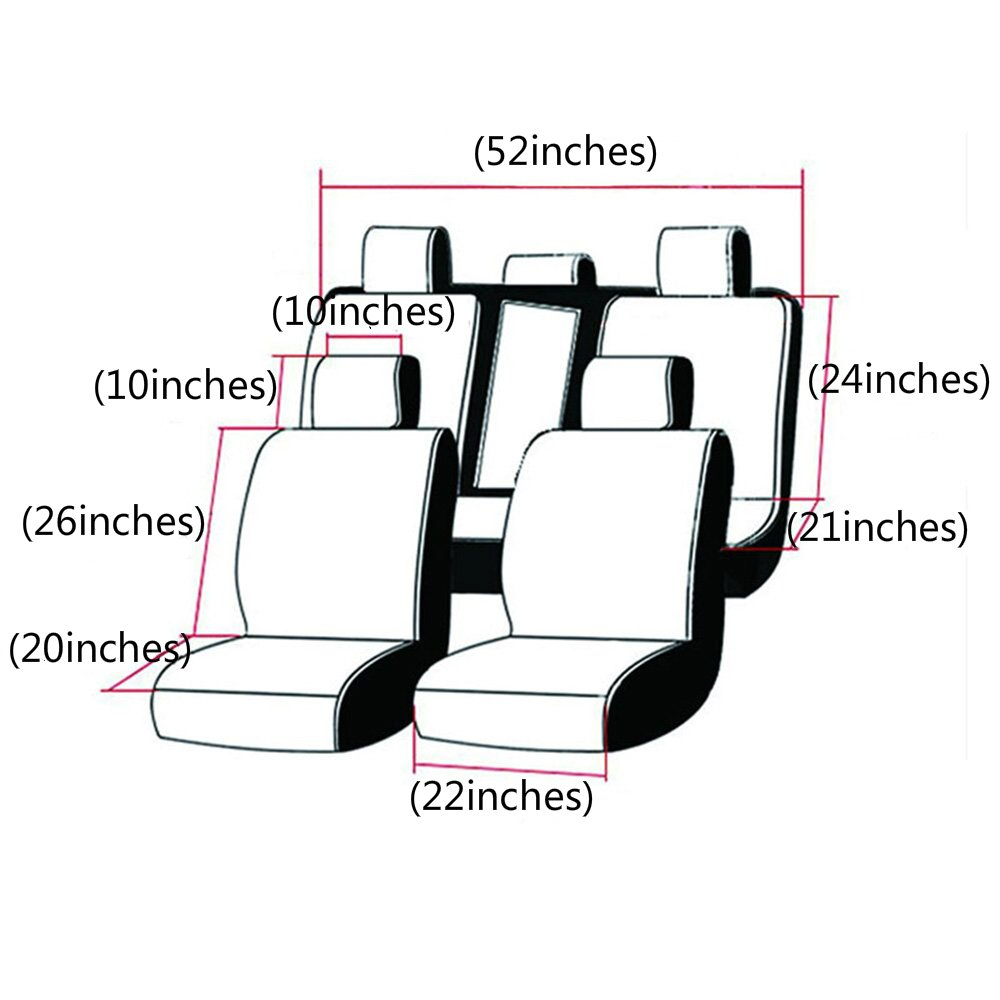 Car Seat Cover Covers Seats Including Front Seats And Rear Seats Universal Auto Accessories