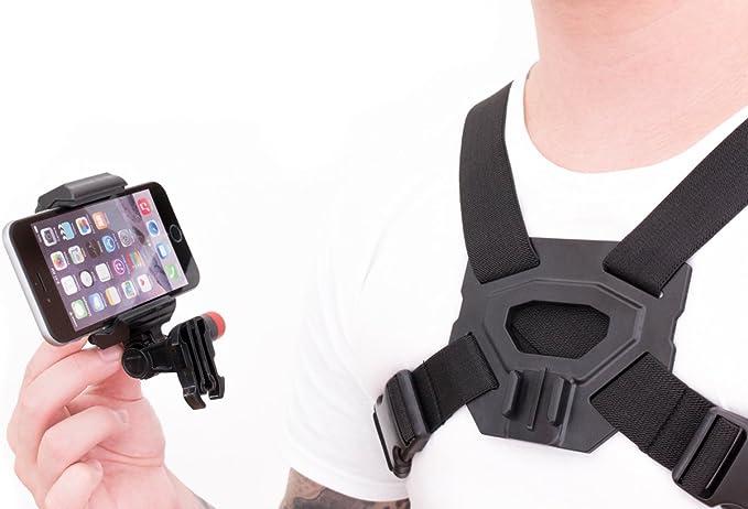 Action Cam Brusthalterung Für Ihr Iphone Samsung Galaxy Note Macht Ihr Smartphone Zu Einer Action Pov Kamera Elektronik