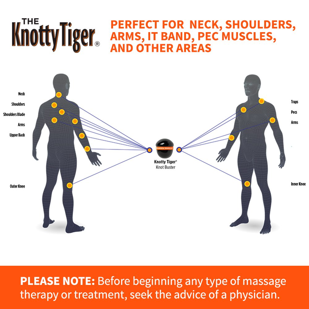 "Amazon.com: Tiger Tail Knotty Tiger – 3"" Deep Tissue & Trigger Point ..."