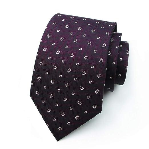 GuanBen Corbata de los Hombres Seda Ancho 9.5 CM Elegante Fucsia ...