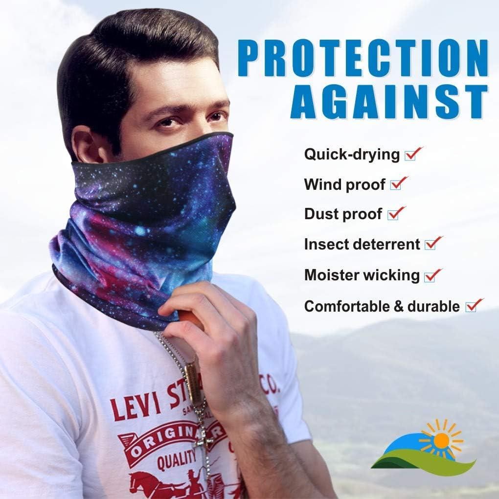 Idefair Face Cover Mask Neck Gaiter Face Bandana Scarve Dust Sun UV Protection