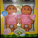Cabbage Patch Cuddle n Love Tiny Newborn Twins Caucasian with Brown Eyes, Bald