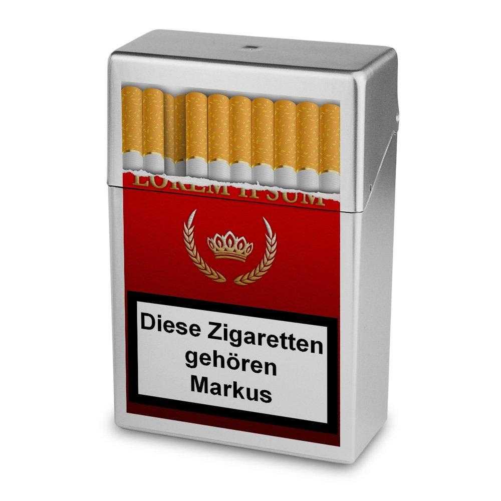 Zigarettenbox mit Namen Markus - Personalisierte Hü lle mit Design Zigarettenbox - Zigarettenetui, Zigarettenschachtel, Kunststoffbox