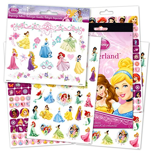 Disney Princess Reward Stickers and Tattoos Bundle With Over 200 Stickers and Disney Princess Temporary Tattoos for $<!--$6.85-->