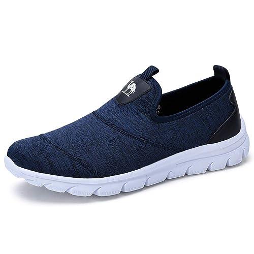 CAMEL CROWN Zapatillas sin Cordones para Hombre Cómodas Alpargatas Ligeras Mocasines de Botes Planos para Caminar Conduciendo Diariamente Vacaciones: ...