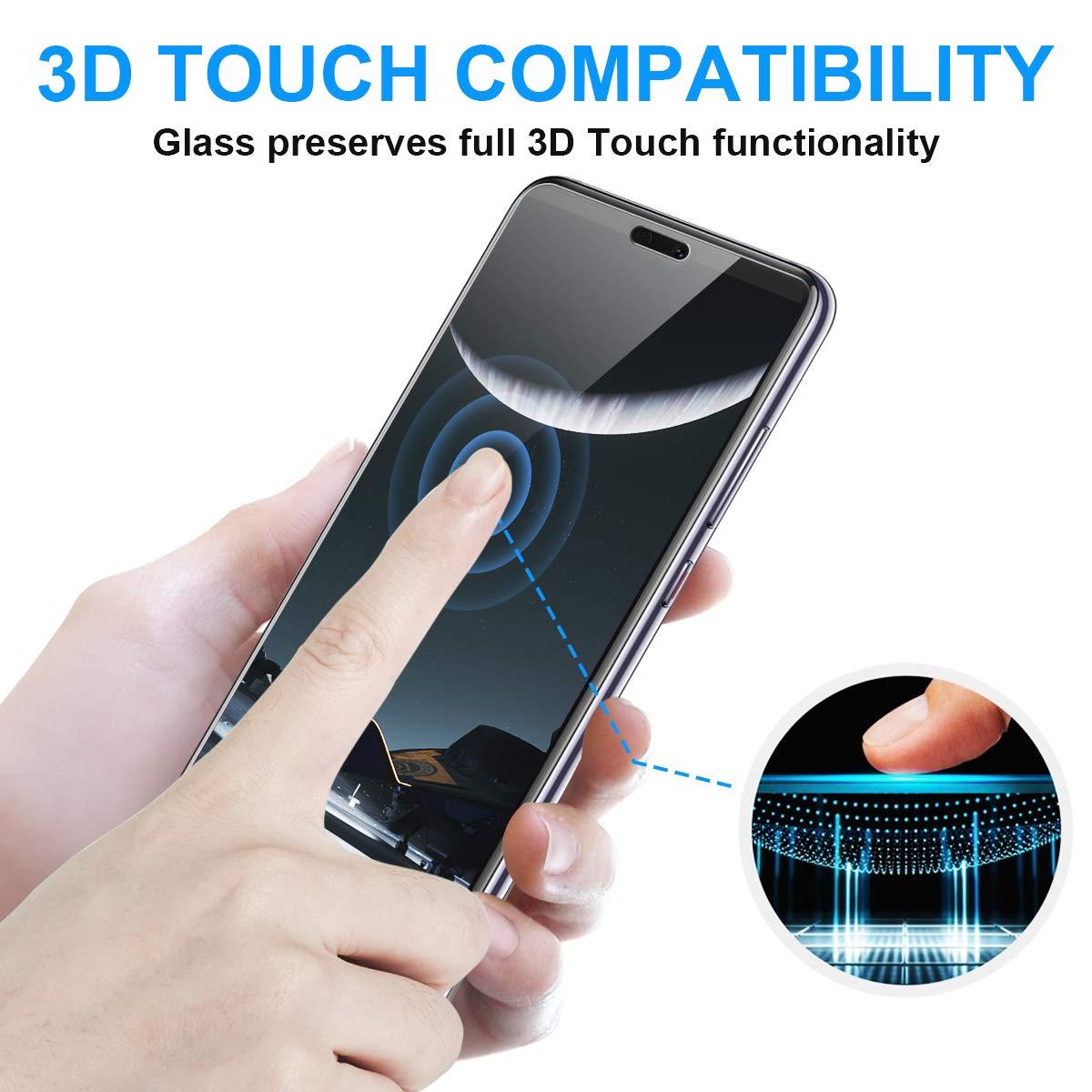 NONZERS [2-Pack] Verre Trempé pour Huawei P20, 2.5D Bords Arrondis Film Protecteur d\'Écran en Verre Trempé Transparent, Dureté de 9H et 3D Touch Compatible, Ultra-Mince et Ultra-Résistant sans Bulles
