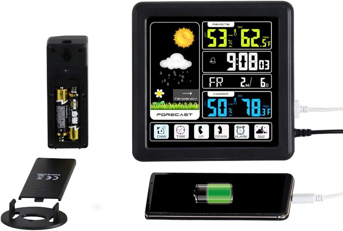 Allarme Gelo Stazione Meteorologica con Sensore Esterno Termometro Igrometro Digitale per Ambiente Misuratore di Umidit/à e Temperatura Interno Orologio Datario