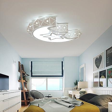 Leo Home - Lámpara de techo de la de luna creativo LED para ...