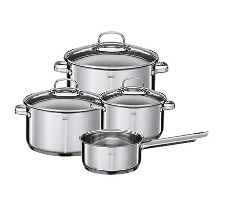 Amazon.com: RÖSLE 13149 Elegance - Batería de cocina (4 ...