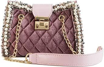 حقيبة للنساء-زهري - حقائب الكتف