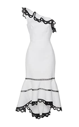 Black and White One Shoulder Dress
