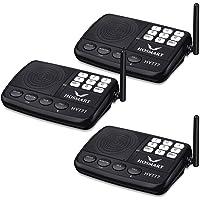 Système d'intercom sans fil Hosmart 1/2 Mile LONG RANGE Système d'intercom sans fil à 7 canaux pour la maison ou le bureau(3 stations)