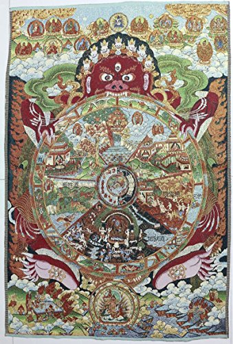 Embroidery Tibetan Art Tangka Beast Buddha Draw Fengshui