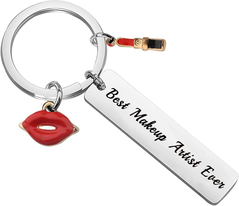 WSNANG Best Makeup Artist Ever Keychain Makeup Artist Gift Beauty Salon Gift for Woman