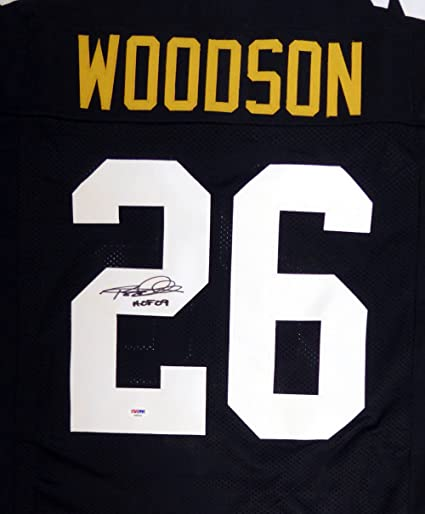 Image Unavailable. Image not available for. Color  Pittsburgh Steelers Rod  Woodson Autographed Black Jersey  quot HOF ... 2499816f6