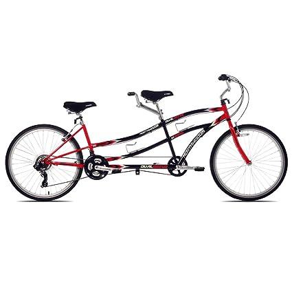 Northwoods Dual Drive Tandem Bike, 26-Inch, Red/Black best tandem bikes