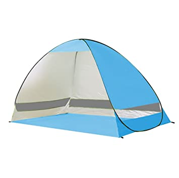 Rhorawill Automatic Pop Up Beach Tent 2-3 Persons Easy Set Up  sc 1 st  Amazon.com : folding pop up beach tent - memphite.com