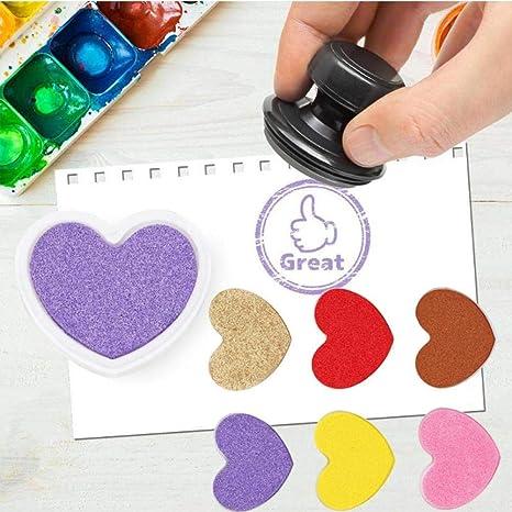 Caramelo 6Pcs Colores de la huella digital del cojín de ...