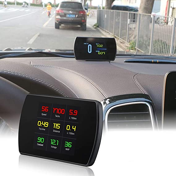AnJingd Coche HUD Head Up Display OBD2 Pantalla Digital ...