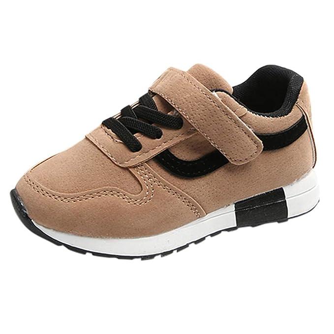 YanHoo Zapatos para niños Calzado Casual de Estudiante Transpirable Rayado de niños Grandes Niños Rayas Carta Deporte Zapatillas Casual Zapatos ...