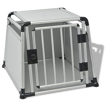 vidaXL Caja de Transporte para Perros 1 Puerta Aluminio L ...