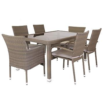 Lola Home Conjunto de Mesa y sillas para jardín marrón de ...