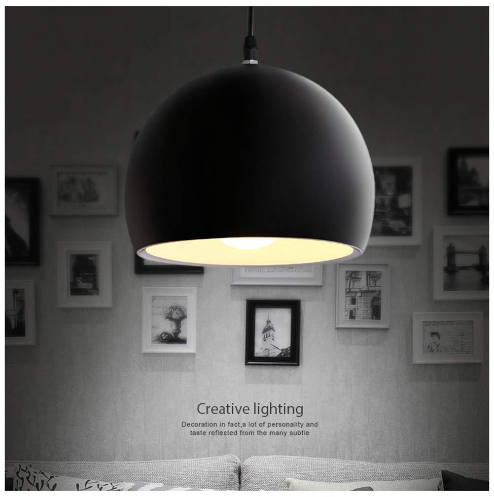 ペンダントライト シンプルなペンダントライトレストランアルミシャンデリア現代球形天井照明バーリビングルーム装飾フィクスチャ - ブラック B07TBRBSTQ