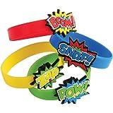 Superhero Rubber Bracelets (12 Pack)