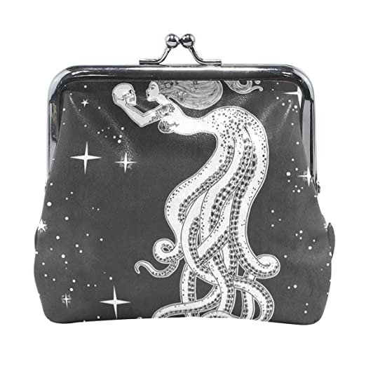 3bf7e2d4ecba Coin Purse Beautiful Octopus Girl With Sugar Skull Womens Wallet ...