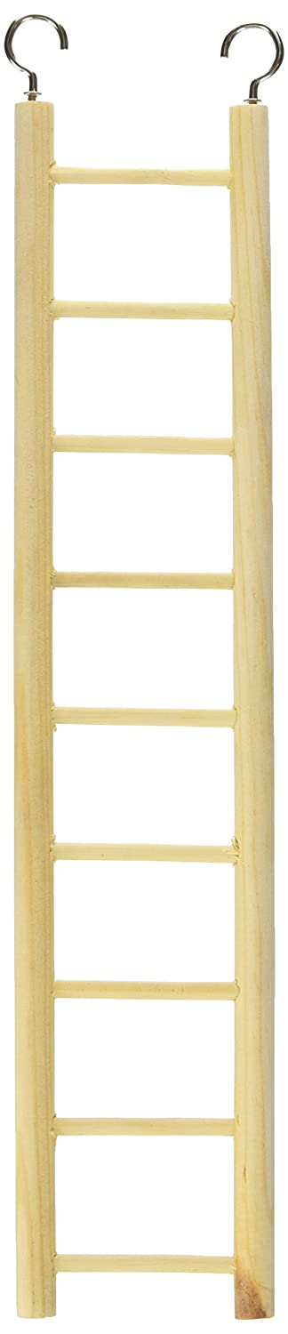 Prevue Pet Products BPV385 Birdie Basics 9-Step Wood Ladder for Bird, 14-1/2-Inch