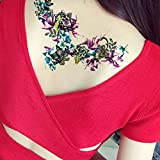 Sexy Temporary Tattoos for Women Waterproof Body Art Tattoos Stickers Removable Fake Tattoos Party Favors for Women & Girls 1PC (A)