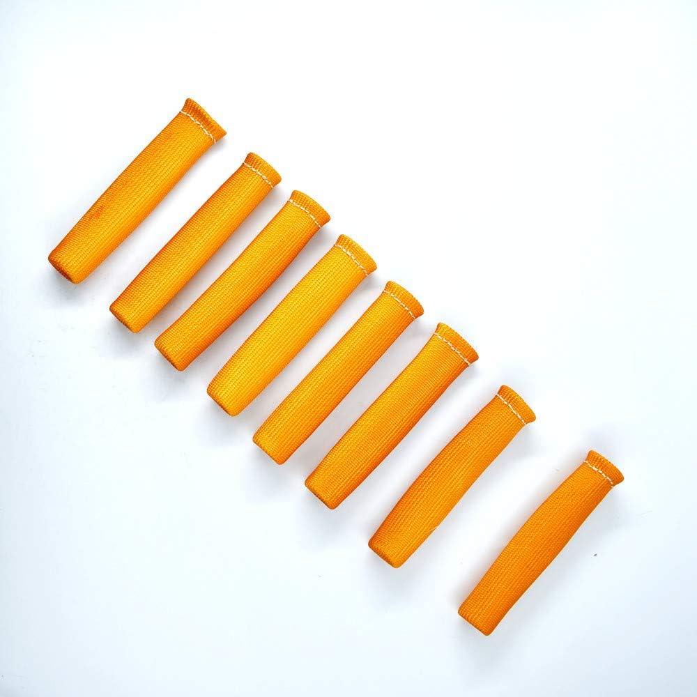 Yellow Spark Plug Wire Boot Heat Shield Insulator 8-Pcs