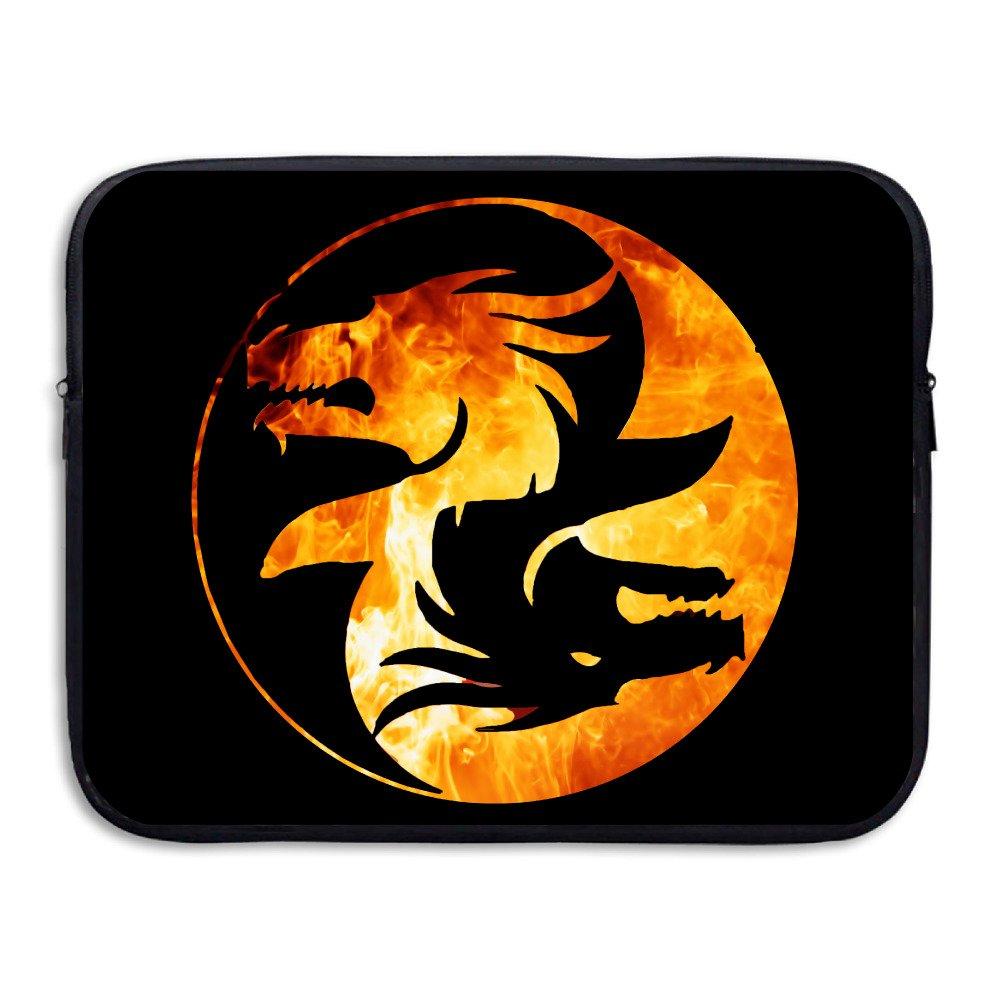 Yin Yang símbolo camiseta tema dragón chino asiático 13/15 pulgadas suave neopreno portátil Funda protectora Slim funda de funda blanda acolchada para ...