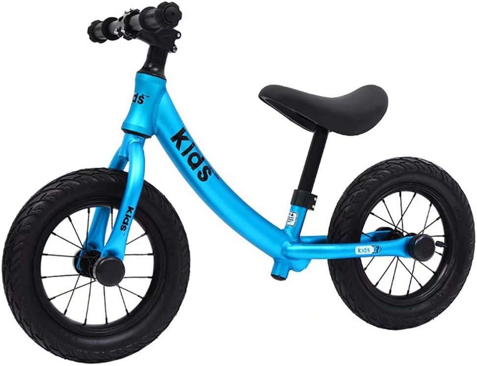 Bicicleta de equilibrio para niños sin pedal para bebés de 3 a 6 años Coche de equilibrio para bicicleta deslizante para niños (azul)