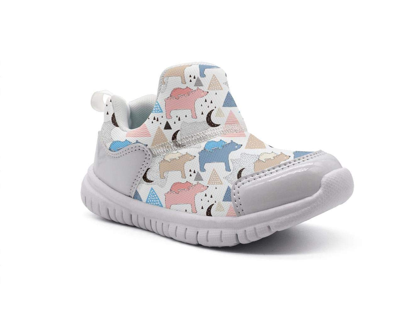 ONEYUAN Children Colorful Polar Bear Habitat Kid Casual Lightweight Sport Shoes Sneakers Running Shoes