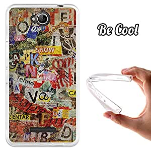 BeCool® - Funda Gel Flexible Vodafone Smart 4 Max Viejos Periódicos Rotos Carcasa Case Silicona TPU Suave