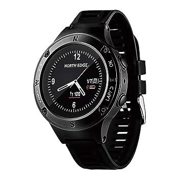 OOLIFENG 50m Impermeable Reloj Deportivo, Relojes Inteligentes de GPS con Altímetro, Barómetro, Brújula