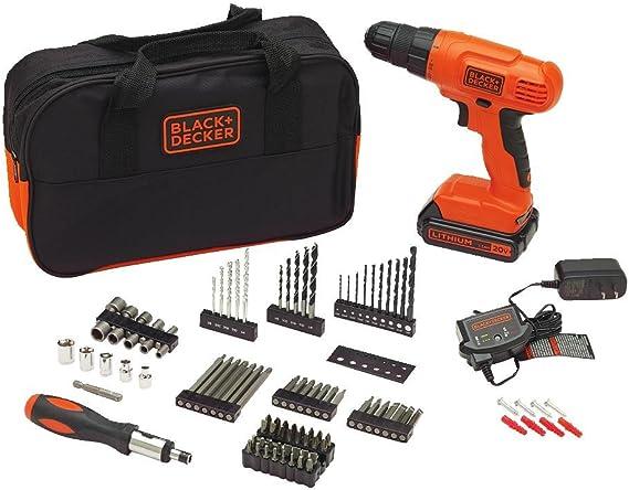 BLACK+DECKER 20V MAX Drill & Drill Bit Set