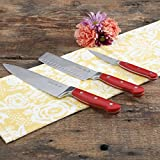 The Pioneer Woman Red 3-Piece Cutlery Set