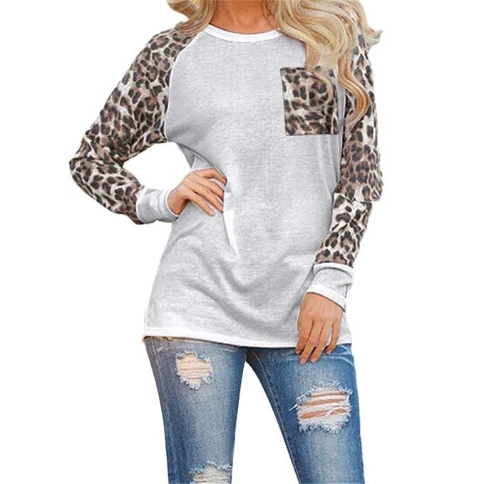 ALIKEEY Raya Embarazadas EnfermeríA Top Abrigo Libre Abrigos Rebajas Mujer Leopardo Blusa Manga Larga Moda Señoras Camiseta Oversize Tops: Amazon.es: Ropa y ...