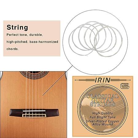 Esplic Cuerdas de Guitarra clásicas - Cuerdas envueltas de ...