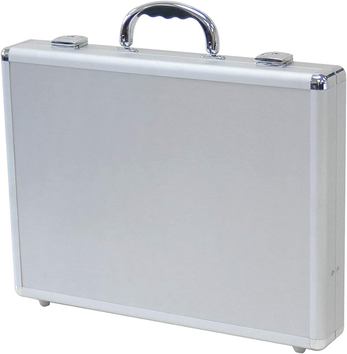 Mens Silver Aluminum Small Thin Flight Hard Case Brief Case Briefcases Man Bag