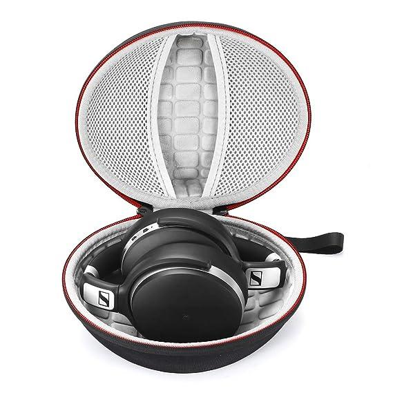 Estuche rígido para Sennheiser HD 4.40 BT/HD 4.50 BTNC Auriculares inalámbricos con Bluetooth, Bolsa de Almacenamiento de Viaje Que Lleva - Negro