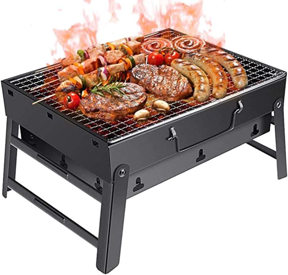Fangteke Faltbarer Grill Picknick-Grill f/ür Garten Terrasse Grill Camping im Freien Tragbarer Holzkohlegrill BBQ