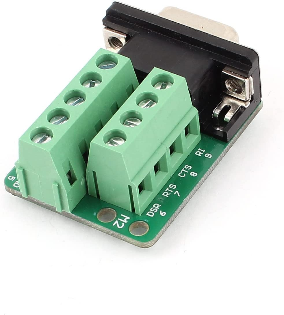 DealMux DB37 D-SUB Male Adapter to 37 Pin Port Terminal Dual Row Screw Breakout Board