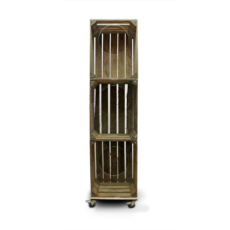 Artisan Rustic Wooden Crate Merchandiser Display On Castors Cr8s4