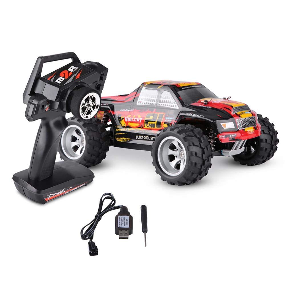 Dilwe 1:18 RC Cross Country Auto Modell Spielzeug, 2,4 GHz Fernbedienung Allradantrieb Gebürstetes Auto(Orange)
